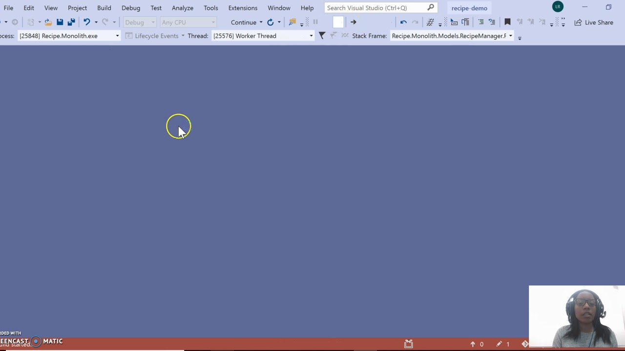 screenshot of save time debugging video