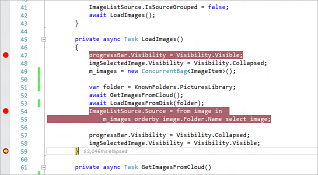 Screenshot of advanced debugging tool