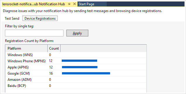 screenshot of Azure Apps Service window