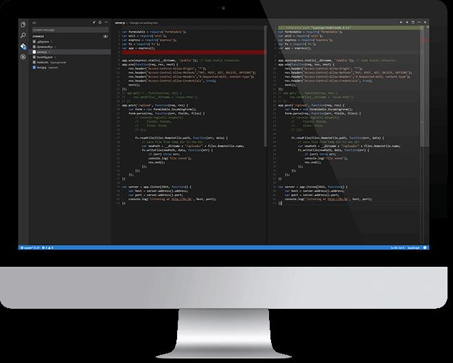 Screenshot of Visual Studio Code editing