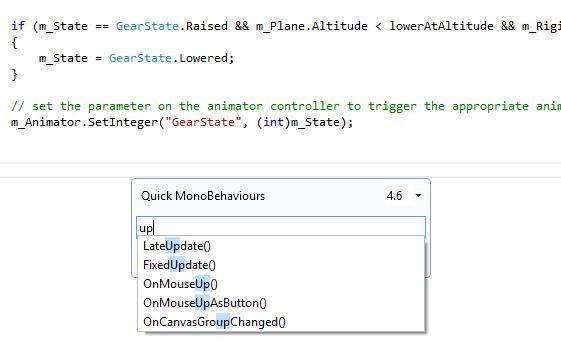 Unity Quick MonoBehaviours screenshot