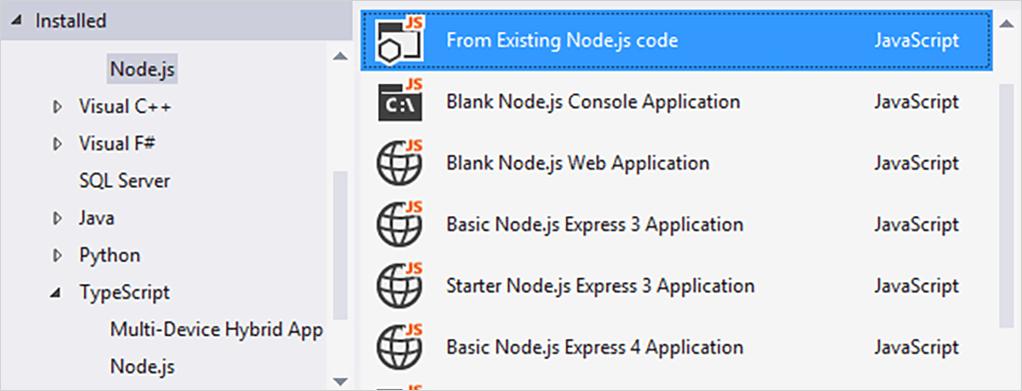 JavaScript TypeScript Node screenshot