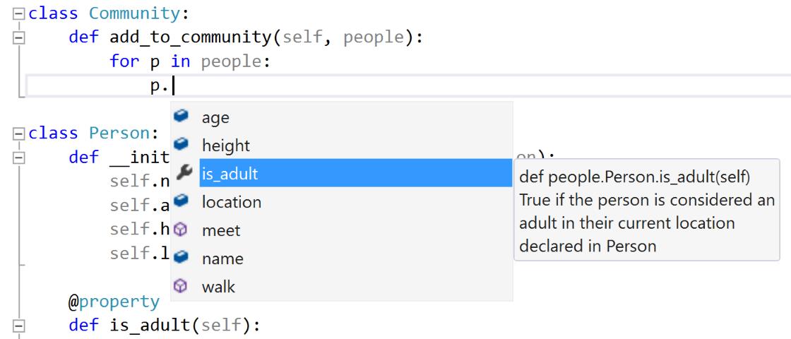 Screenshot of Editing Python Code