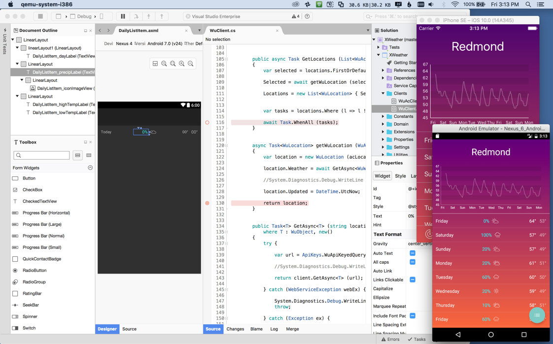 Now with Xamarin