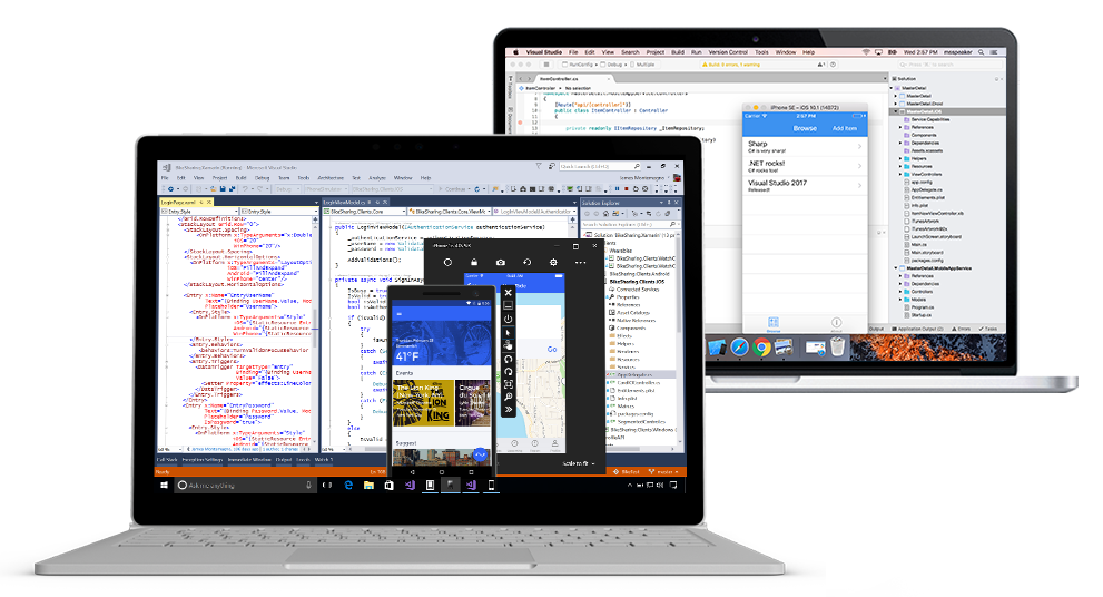 Develop on OS X and Windows