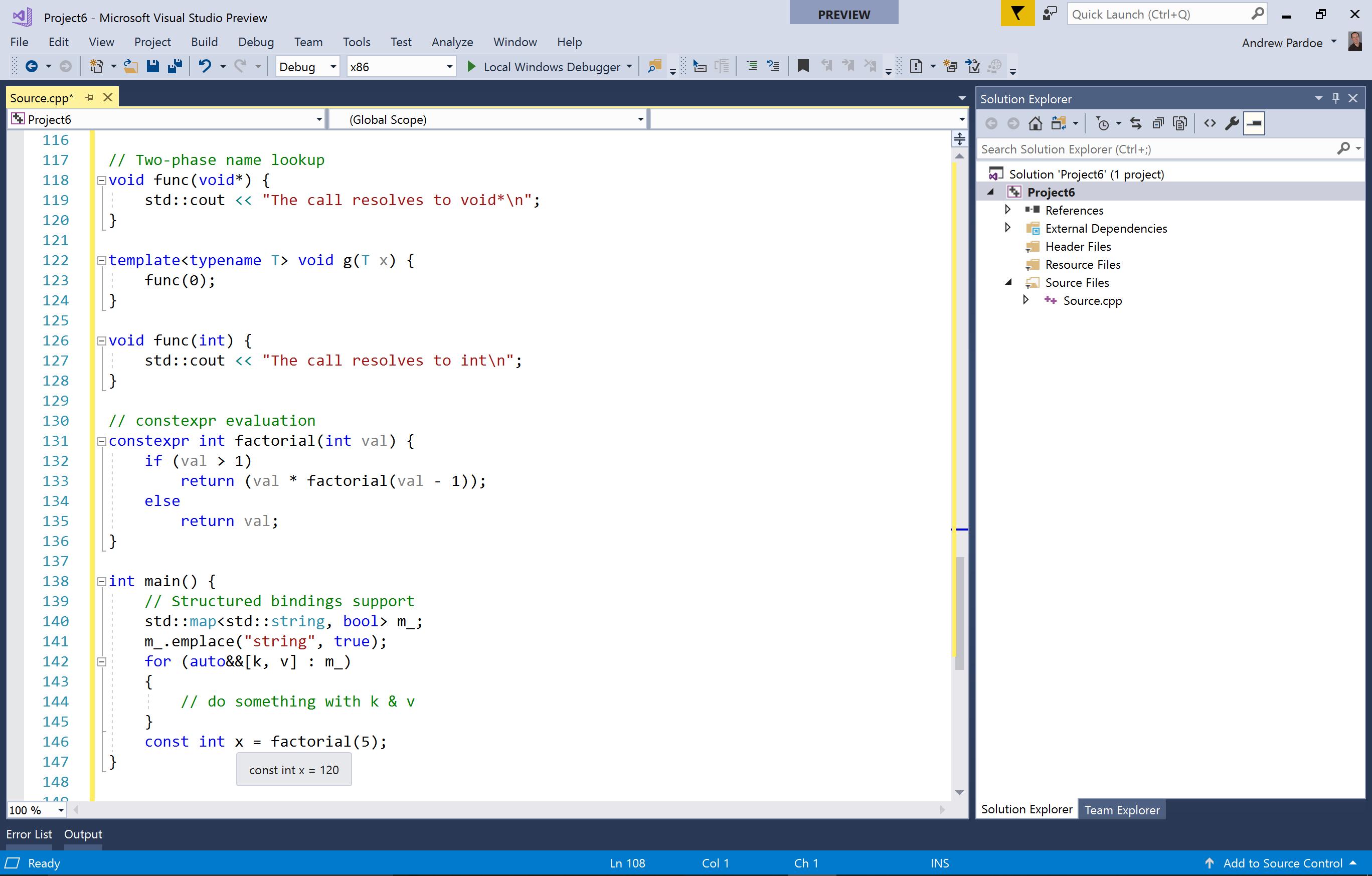 Modern C++ Suport