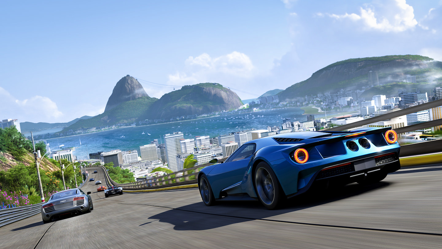 screenshot of Forza driving game