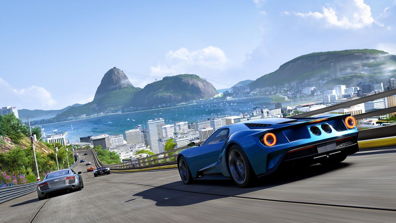 screenshot of Forza driving game