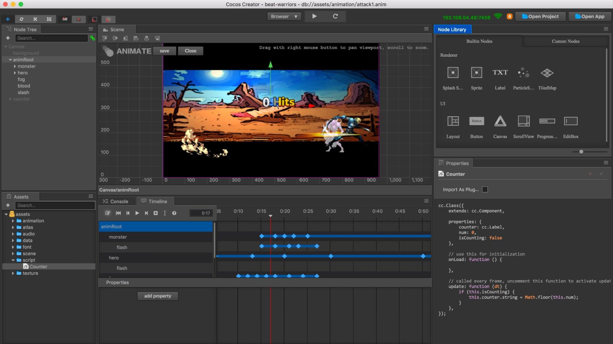 Cocos Creator screenshot