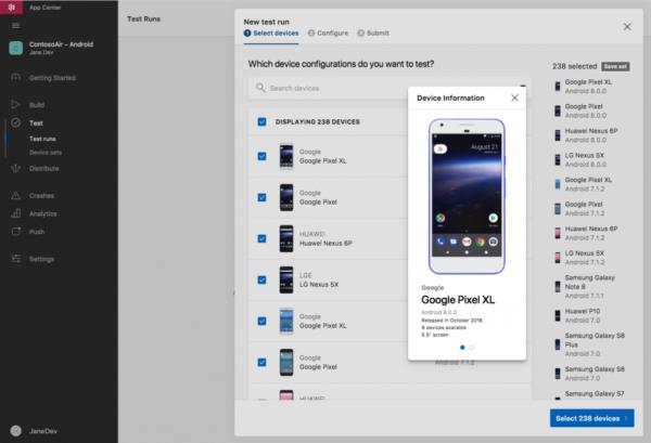 screenshot of Android shipping screen