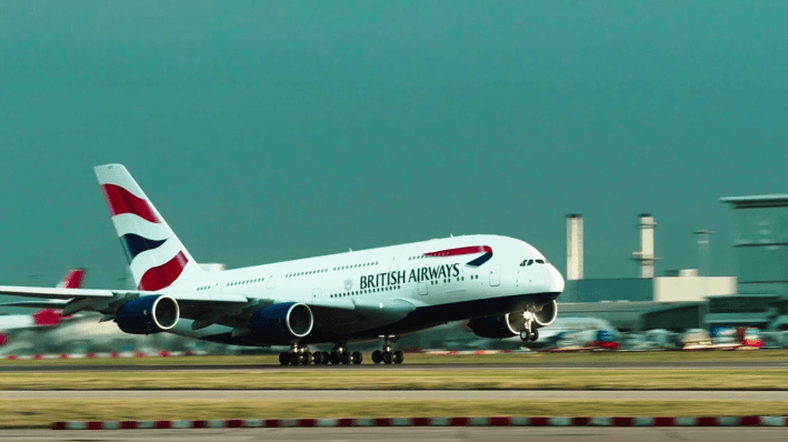 screenshot of British Airways video