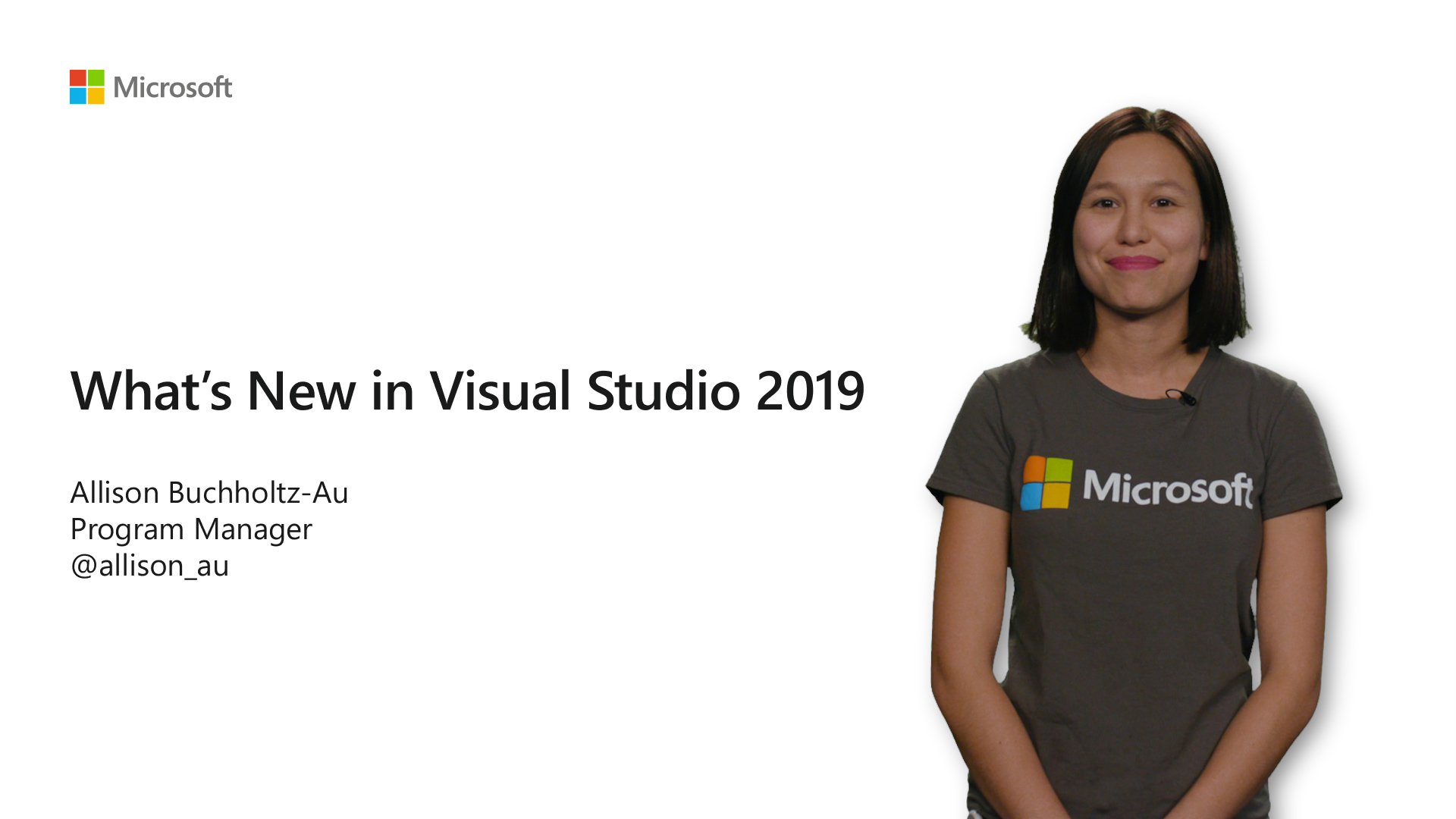 Video summary of updates coming in Visual Studio 2019