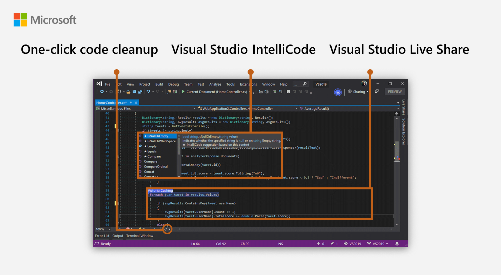What S New In Visual Studio 2019 Download For Free