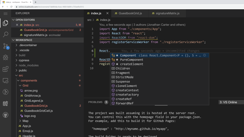 Visual Studio Online screenshot