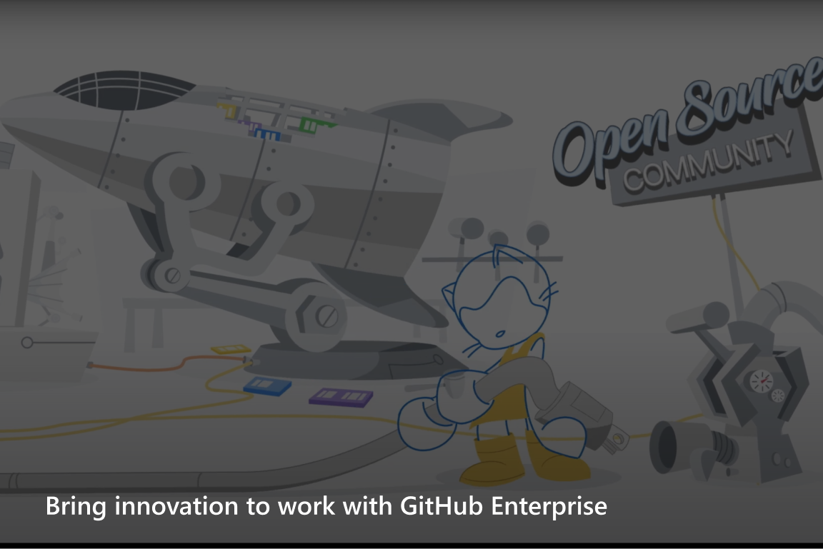 Bring innovation to work with GitHub Enterprise video screenshot